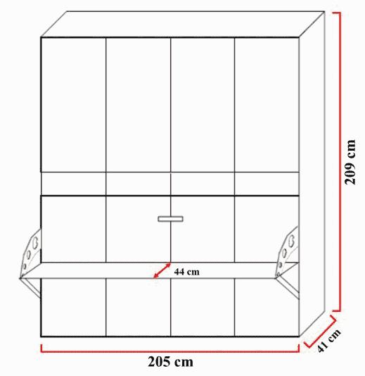 Lit escamotable horizontal optimal 1 place dimensions