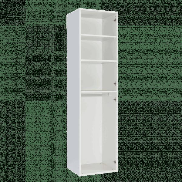 Lit escamotable Pratix | armoire colonne vertical 2 portes battantes ouverte