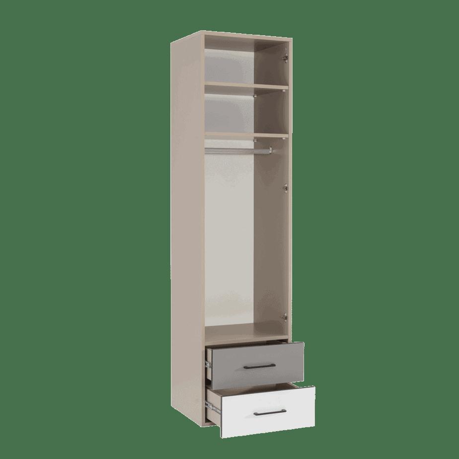 armoire colonne verticale avec tiroirs ouvert