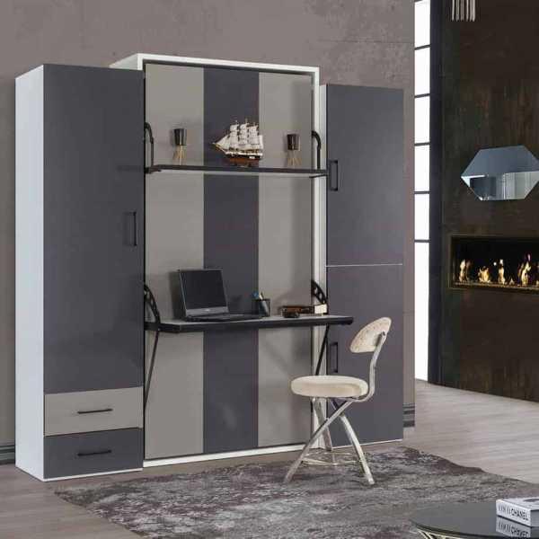 Lit escamotable Pratix | armoire lit escamotable vertical 1 place dans chambre