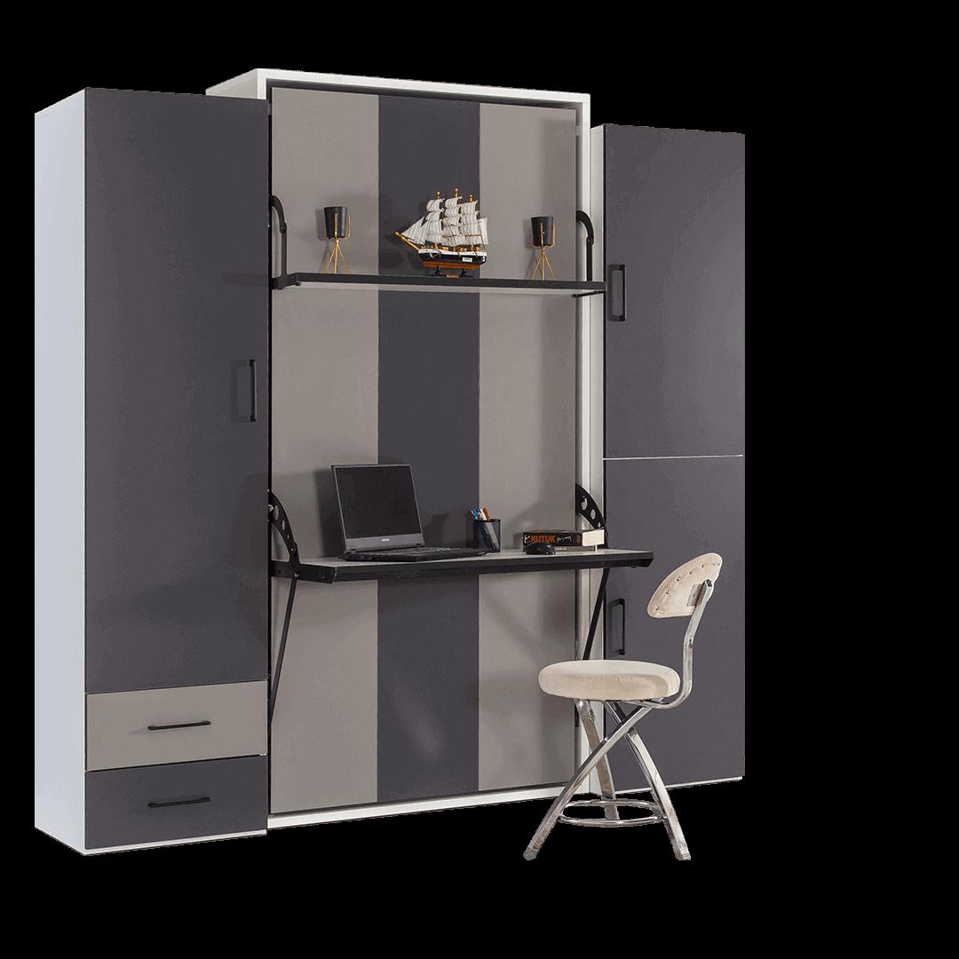 armoire lit escamotable vertical 1 place lit ferme