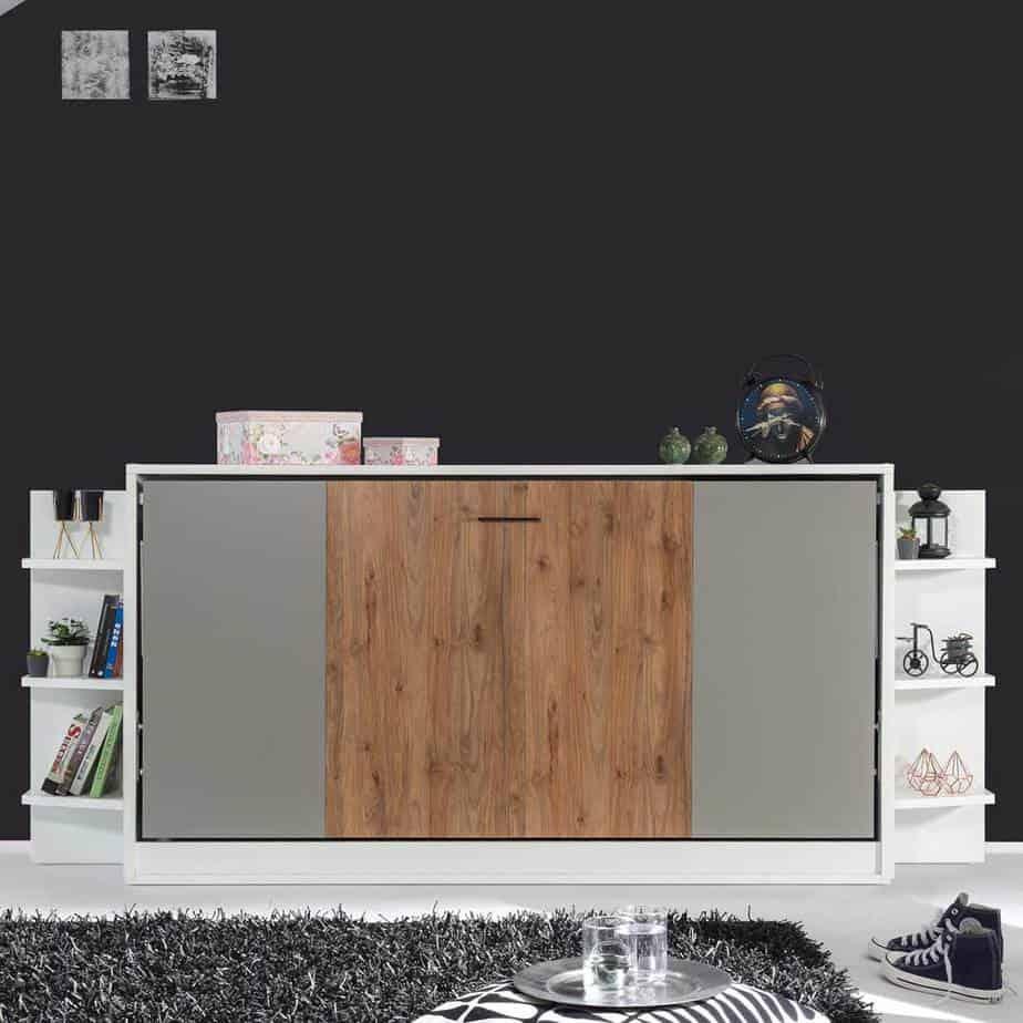lit escamotable horizontal un place fermée dans chambre