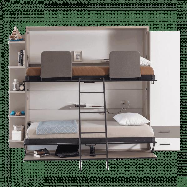 Lit escamotable Pratix | lit escamotable superpose horizontal optimal lit du dessus dessous enface