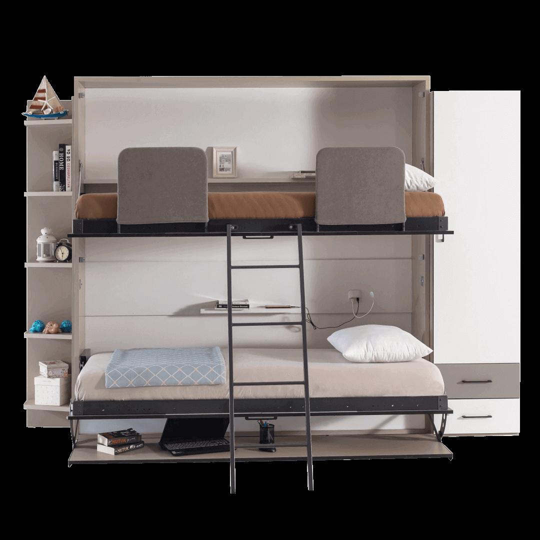 lit escamotable superpose horizontal optimal lit du dessus dessous enface