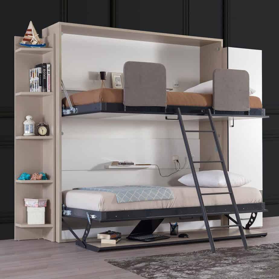lit escamotable superpose horizontal optimal ouvert 2 etages