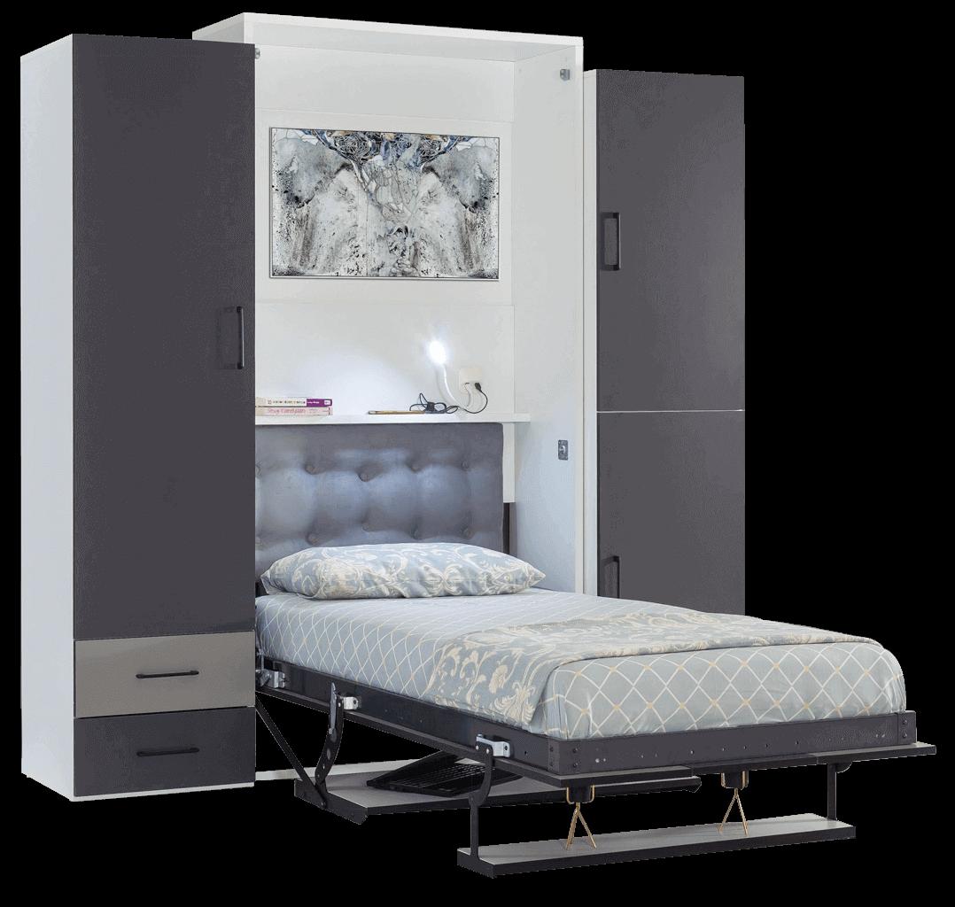 lit escamotable vertical canape intégre 1 personne