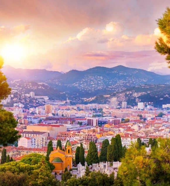 Lit escamotable Nice, vue panoramique de Nice