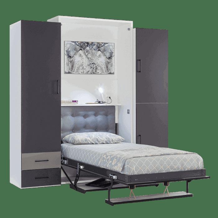 armoire lit escamotable vertical 1 place lit slider
